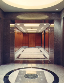 Lobby of 1055 Washington Boulevard office building